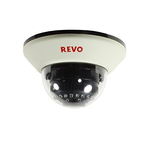 REVO America RCDS30-4 1200 TVL Indoor Dome Surveillance Camera with 100-Feet Night Vision (White) [並行輸入品] B01NCRNN0X