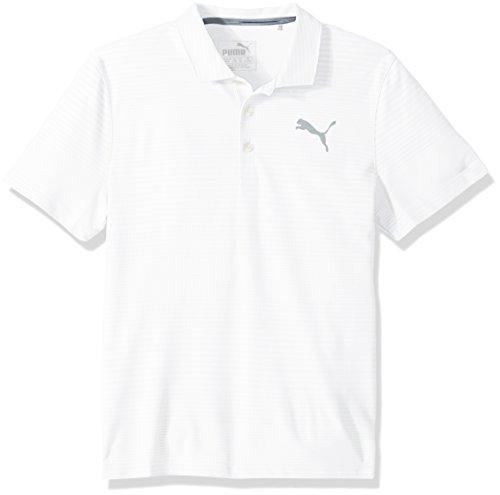PUMA Golf Teen-Boys 2018 Pounce Aston Polo, Bright White, Small
