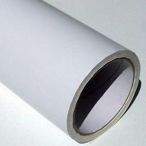 Rollo de papel de vinilo adhesivo (5 m x 61 cm), color blanco mate ...