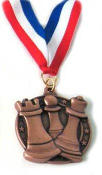 Chess Round Board (Wholesale Chess Round Chess Medal (Bronze))