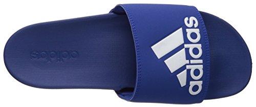 Adidas Menns Adilette Jf + Logo Lysbilde Sandal Kollegialt Royal / Kollegialt Royal / Hvit
