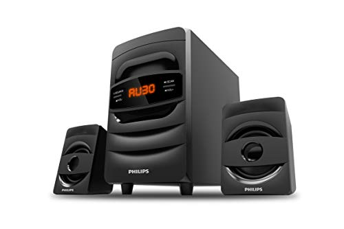 Philips MMS2625B 2.1 CH Bluetooth Multimedia Speakers, Black