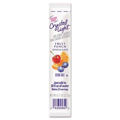 Crystal Light(R) On The Go Mix Sticks, Fruit Punch, Box Of 30 Packets (Fruit On Crystal Punch Light Go The)