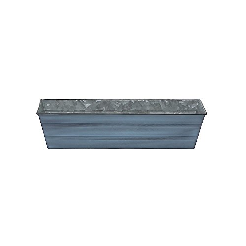 Achla Designs Galvanized Window Flower Box Planter-Nantucket Blue-Small (22