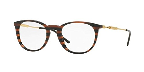 Versace VE3227 Eyeglass Frames 5187-51 - 51mm Lens Diameter Brown Rule Black - Lenses Versace