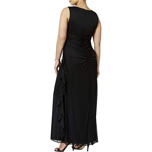 Betsy & Adam Femmes, Plus Découpure Soir Embelli Robe Noire