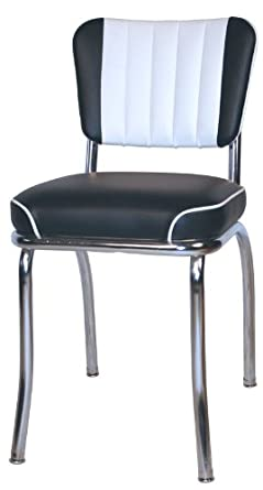 Retro 50u0027s Channel Back Diner Chair