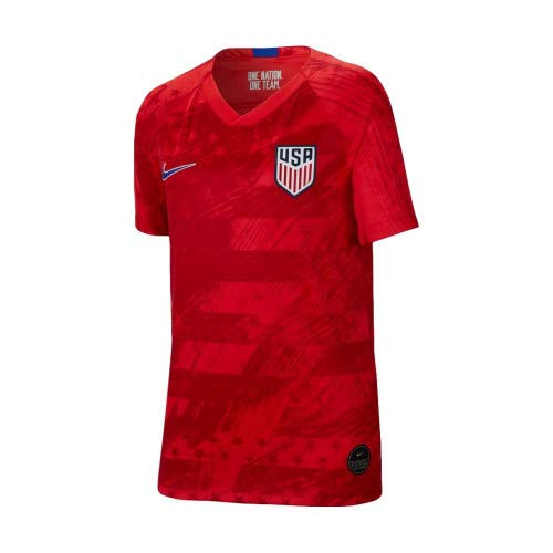 USA 2019 Youth Away Jersey (Red, Youth Large) (Kids World Cup Soccer Jersey)