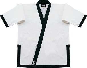 Tang Soo Do - White w/Black Trim Top size 7