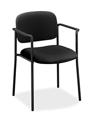 HON Scatter Guest Chair - Upholstered Stacking Chair with Arms, Office Furniture, Black (VL616) ()