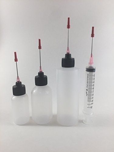 Plastic Squeeze Bottles 1oz, 2oz, 4oz, and 10ML all 1.5