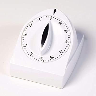 Jamar Long-Ring Timer, Easy to Read Spring Operated Timing Device, Countdown 60 Minute Timer with 10 Second Ring, Kitchen and Daily Living Aid for Use at Clinics, Kitchens, and Physical Therapy