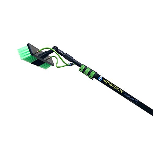 Water Fed Pole Kit for Window Cleaning & Solar Panel Washing (20 Foot Reach)- AquaSpray Superlite 20 (Water Fed Pole)