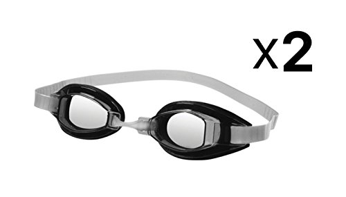 Speedo Sprint Swimming Performance Racing Competition Goggles Clear (2-Pack)