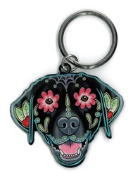 Cali's, Pretty In Ink Labrador, Officially Licensed Artwork - Metal Keychain