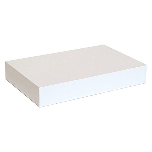 KC Store Fixtures 07104 Garment Box, 17'' x 11'' x 2.5'', White (Pack of 50)