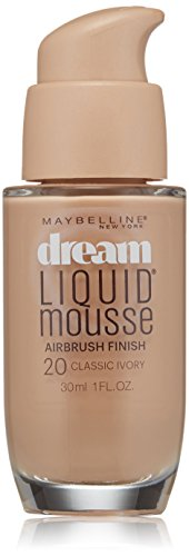 Maybelline New York Dream Liquid Mousse Foundation, Classic Ivory, 1 fl. oz.(Packaging May (Liquid Makeup Foundation)