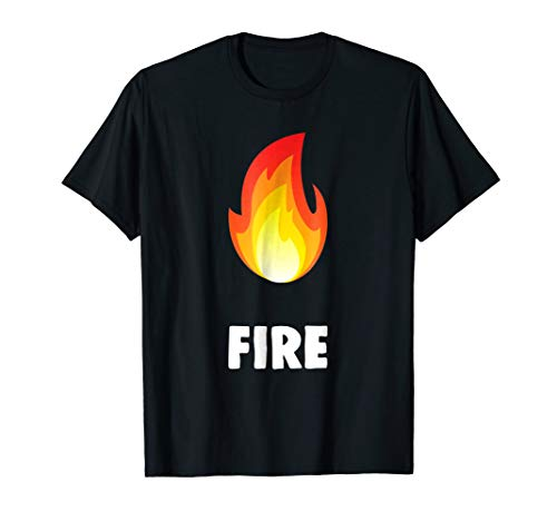 Twins & Couples Matching Halloween Costumes Fire T-shirt ()