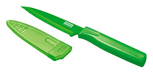 Serrated Paring Knife (great for cutting tomatoes)