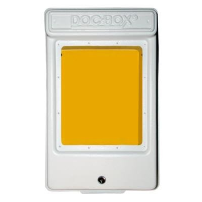 DOC-BOX 11.5 in. x 18.5 in. x 4 in. Outdoor/Indoor Smaller Posting Permit Box Unit with Window and Lock