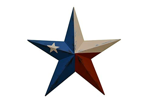 Cheap Heavy Duty Metal Star 10″ Painted Rustic Texas Flag. These Metal Stars Add a Touch of Country to Your Home Decor. You Will Not Be Disappointed with the Quality and Workmanship on These Stars. They Are Handcrafted Out of 22 Gauge Galvanized Steel and Will Not Rust. Add a Barnstar to Your Home Decor Today.