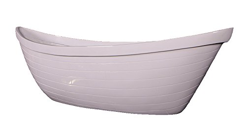 36''L Gel-coat White Wall Mount Boat Planter by Nautical Tropical Imports