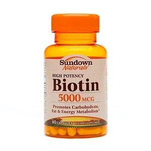 Sundown Naturals Biotin, 5000mcg 60 ()
