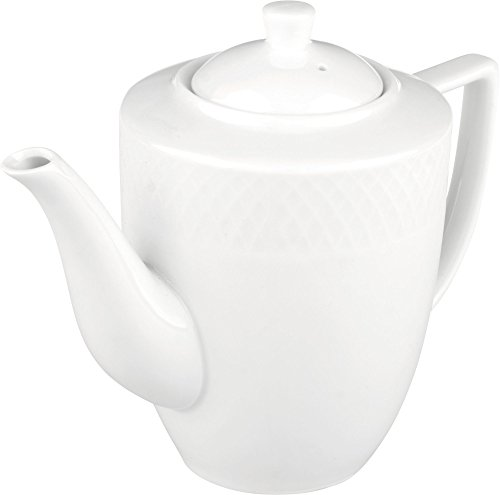 - Wilmax WL-880111, 25 oz. Julia Collection White Porcelain Coffee Pot, Classic European Bone China Traditional Coffee Server with Lid, Gift Box