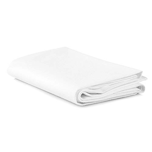 Duro-Med Waterproof Sheet and Mattress Protector: Cotton Flannel Sheets with Synthetic Rubber Bottom - Machine Washable Flat Cloth Cover for Bed, Crib, or Changing Table - White, 36x36