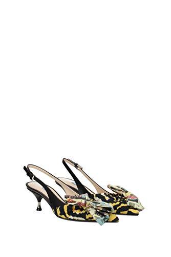 Prada UK Multicolor Fabric Sandals Women 1I690ISTTIGREVITELL FxqHPg