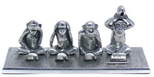 Jac Zagoory Pen Stand Write No Evil - 4 Monkeys Stand - ()