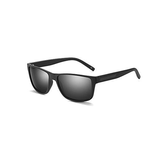 2020Ventiventi Sunglasses for Men Polarized Carbon Fiber Square Frames 54mm UV400 for Driving PL271C02 (Matte - Fiber Frames Carbon Glasses