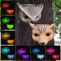 Pack of 2 Solar Powered Fence Tree Light Landscape Lamp Set Patio Outdoor Color Changing Deck Outdoor Solar Lighting