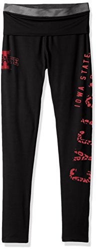 NCAA by Outerstuff NCAA Iowa State Cyclones Juniors Elastic Heart Legging, Black, X-Large(15-17)