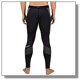 DRSKIN Men?s Compression Dry Cool Sports Tights Pants Baselayer Running Leggings Yoga (Came B-G01, L)