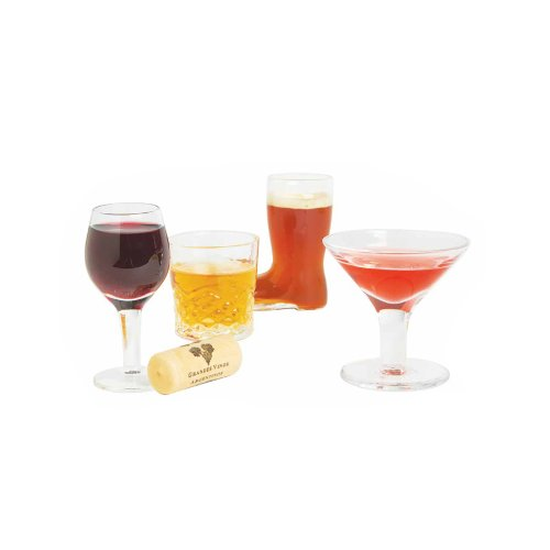 DCI Mini Cocktails Shot Glasses, Set of 4