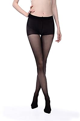 Women's stockings, Hi-Luck 2 Pairs Women's Microfibre Control Top Panty Hose Tights [ Black, Run Resistant ]