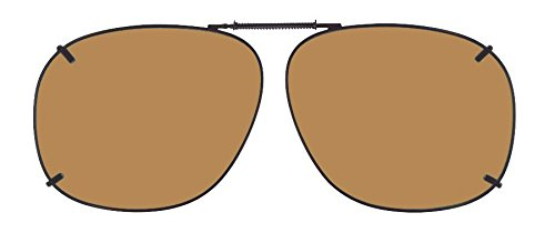 Cocoons Polarized Clip-on Square 3 L329A Sunglasses, Bronze, 57 - Cocoon Clip Sunglasses On