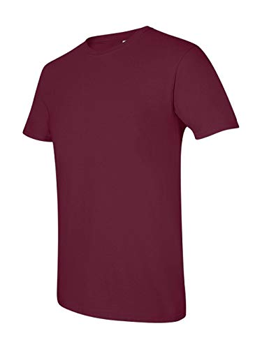 Gildan Men's Softstyle Ringspun T-shirt - Small - - Green Maroon