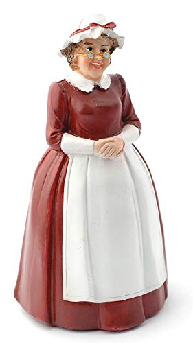 Melody Jane Dollhouse Mother Christmas Mrs Santa Claus Miniature 1:12 People Resin Figure