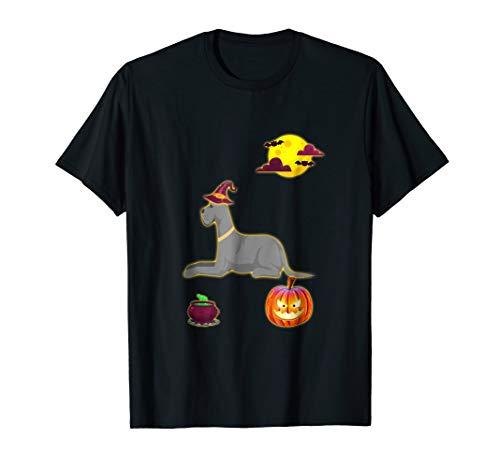 Costume Great Dane Moon Pumpkin Halloween T Shirt