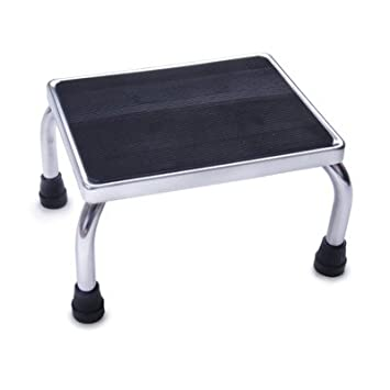 mds80430i chrome foot stools with rubber mat