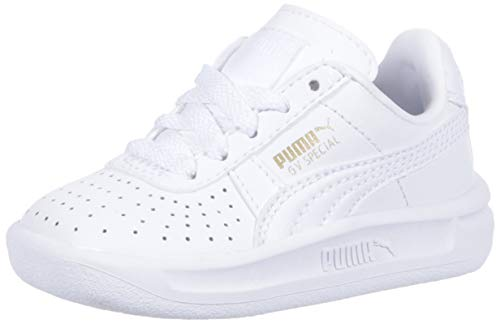 PUMA Baby GV Special Kids Sneaker, White Team Gold, 10 M US Toddler ()