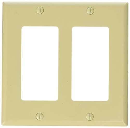Ivory Dual Data Wall Plate (C2G/Cables To Go 03726 Decorative Dual Gang Wall Plate (Ivory))