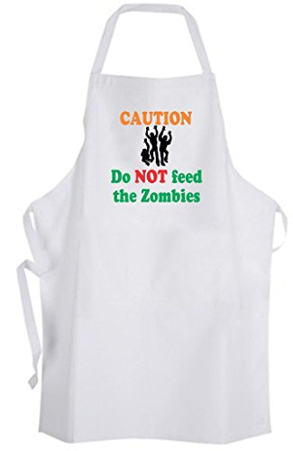Caution Do NOT feed the Zombies - Adult Size Apron Cook Chef Kitchen Funny Humor (Zombie Chef compare prices)