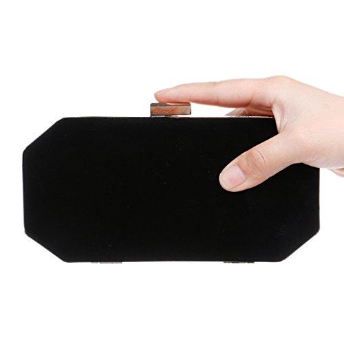 Scamosciata color Da Black Waveni Borsa Black Pelle Sera In wxXWxYATZq