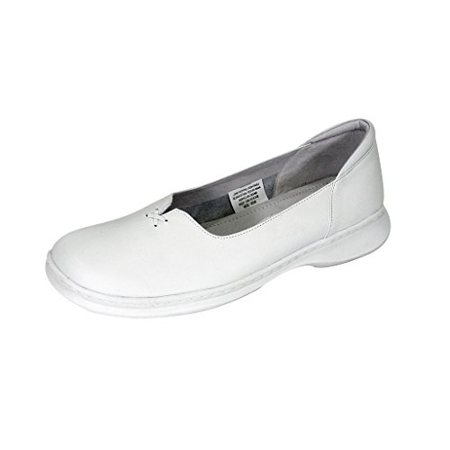 24 Hour Comfort  Kallie (1024) Women Wide Width Comfort Slip-On Shoes White 10.5 by 24 Hour Comfort