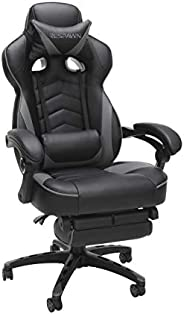 RESPAWN-110 Racing Style Gaming Chair - Reclining Ergonomic Leather Chair with Footrest, Gris