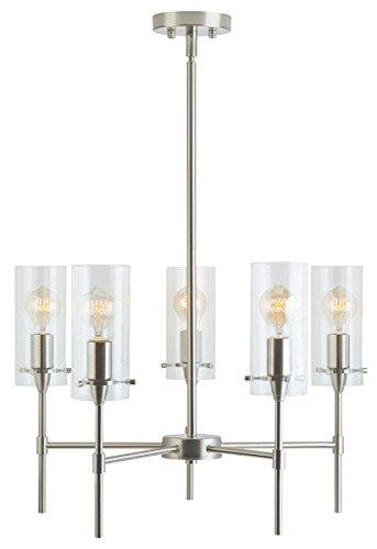 Effimero 5 Light Chandelier Brushed Nickel Hanging Light