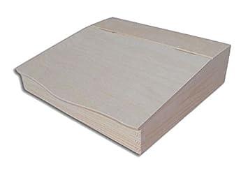 Organiseur bureau en bois naturel rangement pour documents